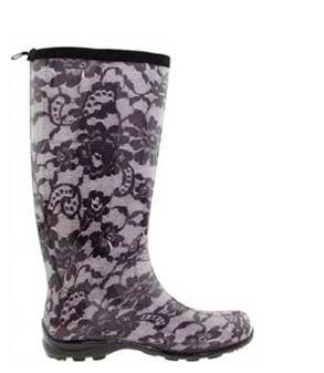Black-and-White-Lace-Rain-Boots
