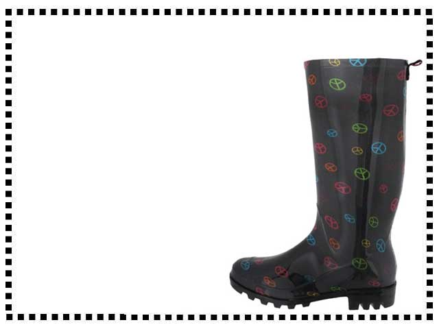 Peace Sign Rain Boots For Women