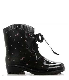 Lace-up-ankle-rain-boots