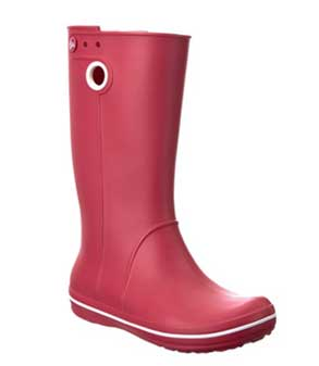 Rasberry colored womens wellie boots