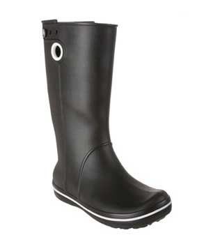 black colored womens wellie boots