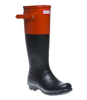 hunter-red-and-black-block-wellingtons