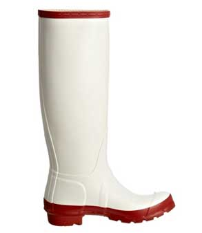 red-and-white-Hunter-rain-boots