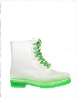 Fun-green-clear-rubber-boots