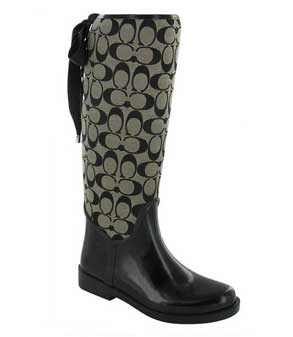 Black-and-white-Coach-Tristee-Rain-boots