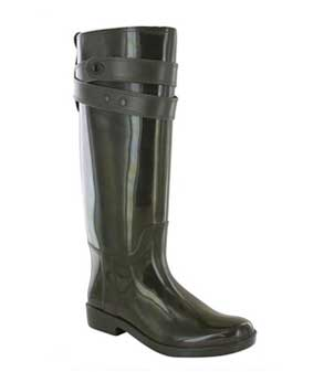 Distressed-green-Coach-rain-Boots