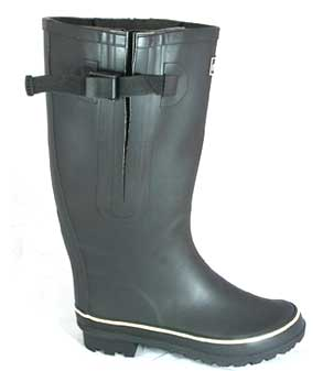 Extra wide black rain boots
