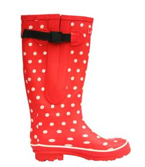 Red-spotted-jileon-rain-boots