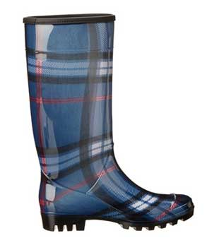 Blue plaid boot made by dirty laundry