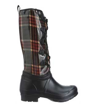 Plaid winter boots
