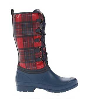 red plaid sporto boots