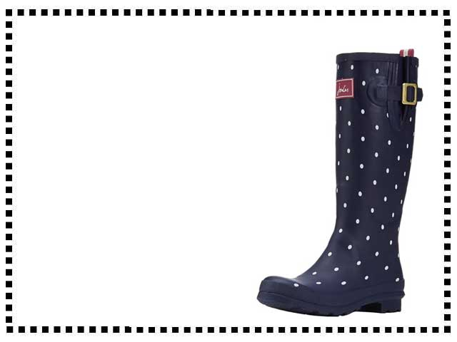 Joules Navy Spot Wellies