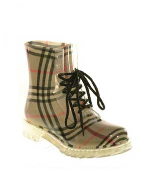 plaid-ankle-combat-rain-boots
